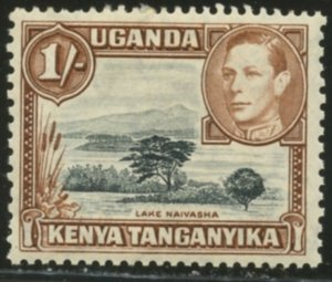 KUT Sc#80 (SG#145) 1938 KGVI 1sh Perf Variety Mint Hinged