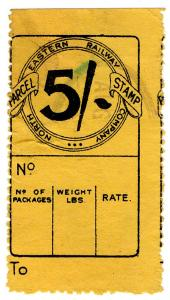 (I.B) North Eastern Railway : Parcel Stamp 5/-