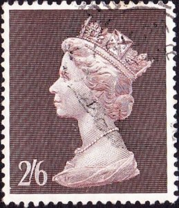 GREAT BRITAIN 1969 QEII 2/6s Brown SG787 Used