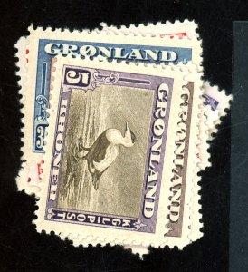 Greenland #10-18 MINT VF OG LH Cat$202