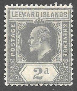 Doyle's_Stamps: 1911 MH Leeward Islands King Edward VII 2d, Scott #44*