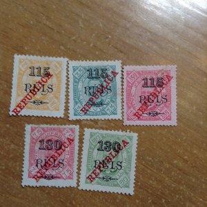 Cape Verde # 188-92  MH