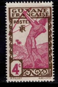 French Guiana Scott 112 MH* stamp expect similar centering
