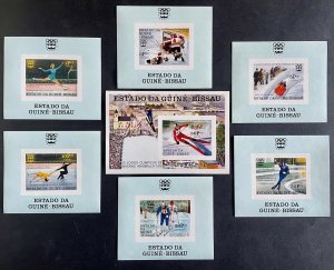 Stamps Deluxe blocs + S/S Olympic Games Innsbruck 76 Guinea Bissau Imperf.