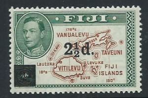 Fiji  GVI SG 267  MH surcharge overprint