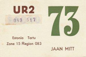 6982 Amateur Radio QSL Card  TARTU ESTONIA