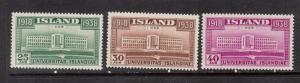 Iceland #209 - #211 VF/NH Set