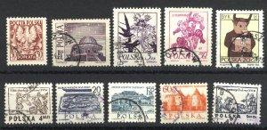 Poland 1446,1340,1338,1336,2071,2071B,2017,2020,3279,J28   used VF  PD
