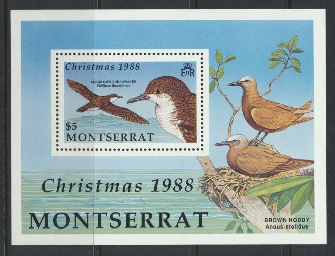 Montserrat    SG  MS781  SC# 706   Sea Birds  Christmas 1988
