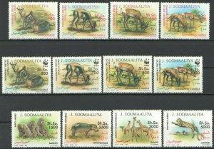 J329 1992 SOMALIA FAUNA WWF WILD ANIMALS GAZELLES !!! MICHEL 95 EURO SET FIX
