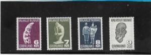 Greenland  Scott#  102-5  MNH