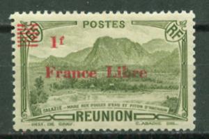 France-Reunion # 223  1F on 65c France Libre (1) Unused VLH