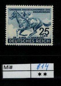 Deutschland Reich TR02 DR Mi 814 1939 Reich Postfrisch ** MNH