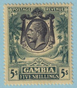 GAMBIA 124 MINT HINGED OG *  NO FAULTS EXTRA FINE