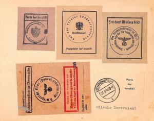 AZ224 1944-49 AUSTRIA OFFICIAL SEALS Germany inc' WW2 Nazi Labels {samwells}PTS