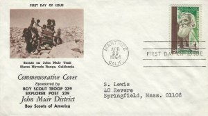 1245 5c JOHN MUIR - 1st Boy Scout Troop 239 cachet