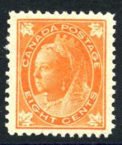 CANADA: Sc.#72  **  8¢ Orange, STUNNING PERFECTLY CENTERED, SUPERB, large ma...