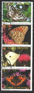 Sao Tome and Principe. 1987. 991-1002 from the series. Butterflies. USED.