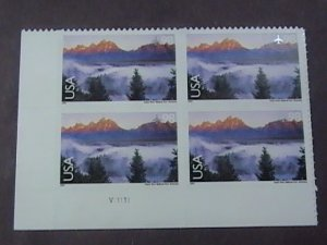 U.S.# C147-MNH-LL-PLATE # BLOCK OF 4--SCENIC AMERICAN LANDSCAPES--AIR-MAIL--2009