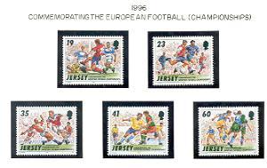 Jersey  Sc 750-4 1996  Soccer Championships stamp set mint NH