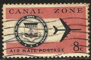 Canal Zone Air Mail 1965 Sott# C43 Used