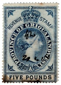 (I.B) Griqualand West Revenue : Duty Stamp £5