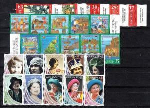 Guernsey Scott 615-624, 664-666, 670-679 Mint NH (Catalog Value $28.50)
