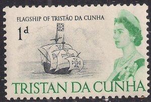 Tristan Da Cunha 1965 - 67 QE2 1d Flagship MM SG 72 ( J802 )