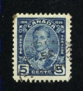 Canada #214   used   VF  PD
