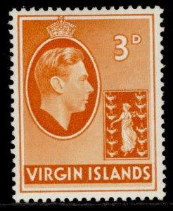 BRITISH VIRGIN ISLANDS GVI SG115, 3d orange, M MINT.