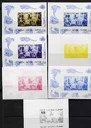 Batum 1998 Dinosaurs 900 value individual s/sheet the set...