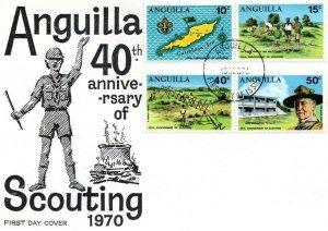 1970 Anguilla Boy Scout 40th anniv FDC