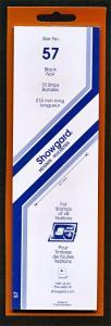 Showgard Stamp Mounts Size 57 / 215 BLACK Background Pack of 15