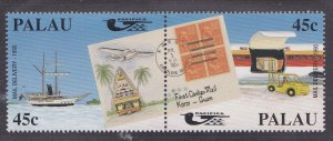 Palau # 248a Pacifica Mail Delivery,, NH, 1/2 Cat.