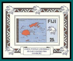 Fiji 1984 UPU Congress, MS MNH  #513,SGMS679