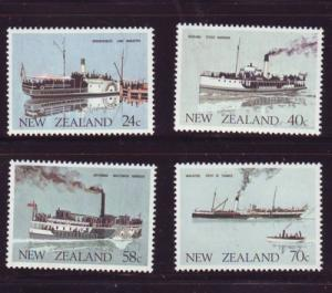 New Zealand Sc 795-8 1984 Ferry Boats stamps NH