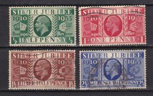 Great Britain # 226-229, Silver Jubilee, Used
