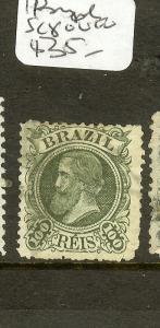 BRAZIL (P1108B) DOM PEDRO 1OOR SC 80  VFU