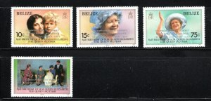 Belize SC771-774 QueenMotherElizabeth85thBirthdayOverprt.CommonwealthSum.Conf.