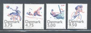 Denmark Sc 1045-8 1996 Sports Olympics stamp set mint NH