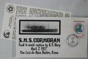 Guam Guard Mail Local Post 1977 SMS Cormoran US Naval Ship Com Cover Cachet