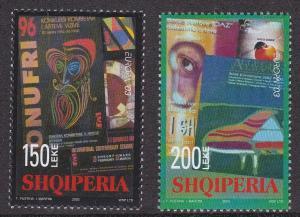 Albania # 2704-2705, Europa - Poster Art, NH, 1/2 Cat