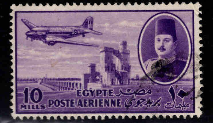 EGYPT Scott C44 Used airmail airplane
