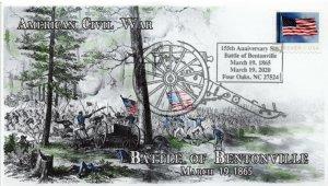 20-067, 2020, Battle of Bentonville, Pictorial Postmark, Event Cover, Civil War