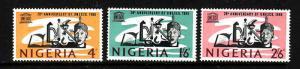 Nigeria-Sc#204-6-unused hinged set-UNESCO-1966-