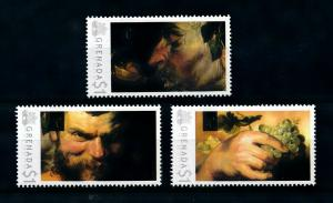 [100060] Grenada 2009 Art Painting Rubens Two Satyrs Grapes  MNH