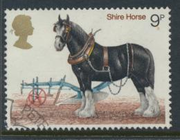 Great Britain  SG 1063 SC# 839 Used / FU with First Day Cancel - Horses