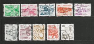 CUBA – 1982 – EXPORTS - #2484-2493 – SET OF 10 – USED/CTO