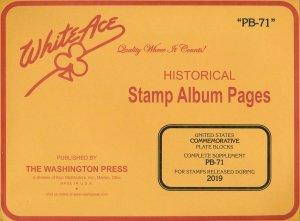 WHITE ACE 2019 US Commemorative Plate Blocks Album Supplement PB-71