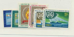 United Nations (New York) Scott #119 To 124 From 1963 - Free U.S. Shipping, F...